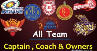 Vivo IPL 2018: IPL 11 T20 2018 Captains list and Teams Owners